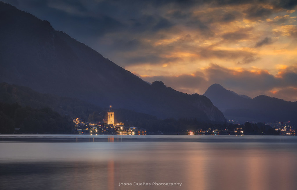 Last lights in the small town Austria 7S9365