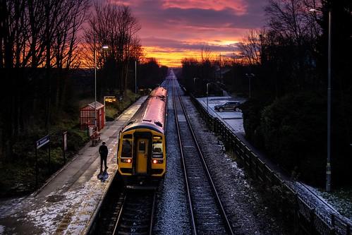 158901 woodlesford northern railway trains sunrise dawn