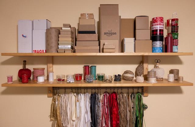 Boxes & Repurposed Ribbon