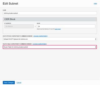 OCVS - Edit Subnet