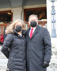 Rep. Anderson and his wife Carole after the outdoor swearing-in ceremony.