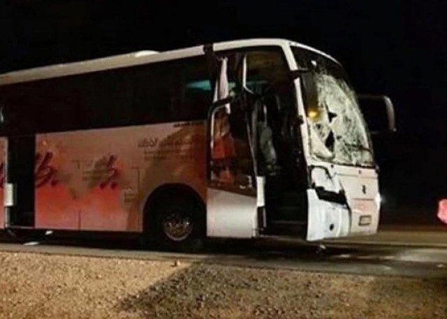 5878 3 pilgrims died after the bus collission with a camel
