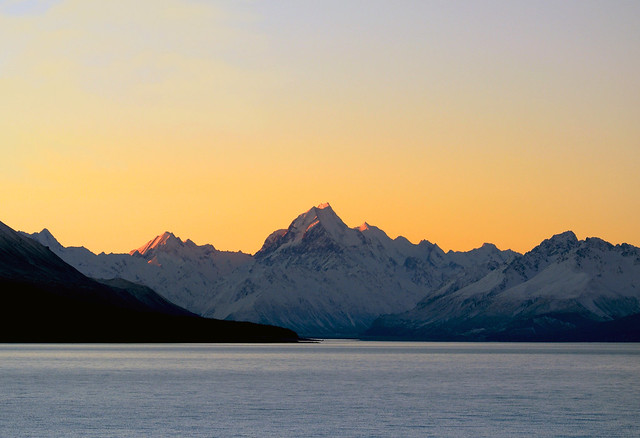 Evening Glow. Mt Cook NZ