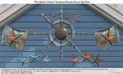 ".:Tm:.Creation ""The Ship's Wheel"" Nautical Beach Decor Set D02"