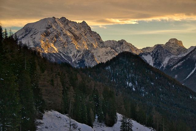 Watzmann (2713 m) and Grosser Hundstod (2593 m)