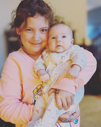 Lou with her little sister Norah