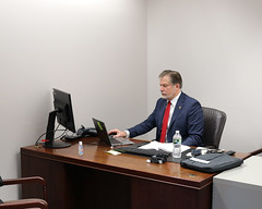 Rep. Anderson participates in the first day of the legislative session which was held virtually.
