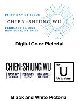 United States: Chien-Shiung Wu, 11 February 2021 (pictorial postmarks)