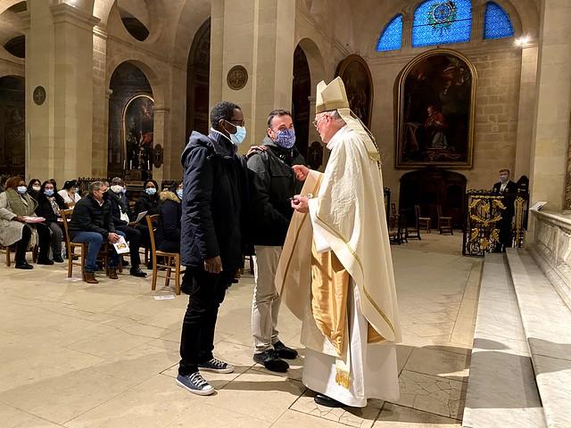 Confirmations d'adultes en l'église Notre-Dame, Bordeaux (3 janvier 2021)