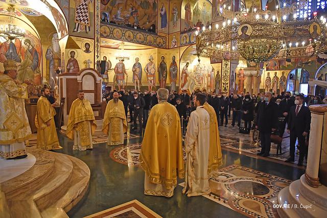 Zdravko Krivokapić - Božićna liturgija u Hramu Hristovog Vaskrsenja (07.01.2021.)