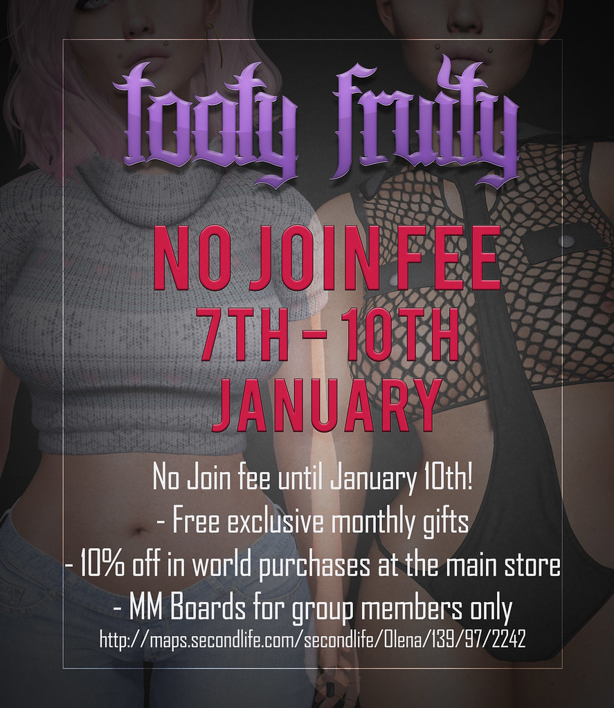 No Join Fee 7th - 10th January