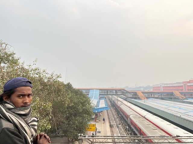 City Hangout - Train Spotting, The Bridge Upon the New Delhi Railway Station