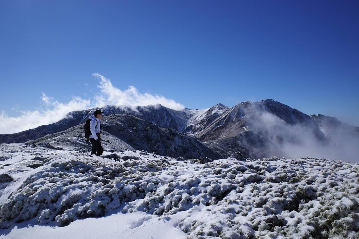 中央アルプス・将棊頭山 初冬の雪山登山
