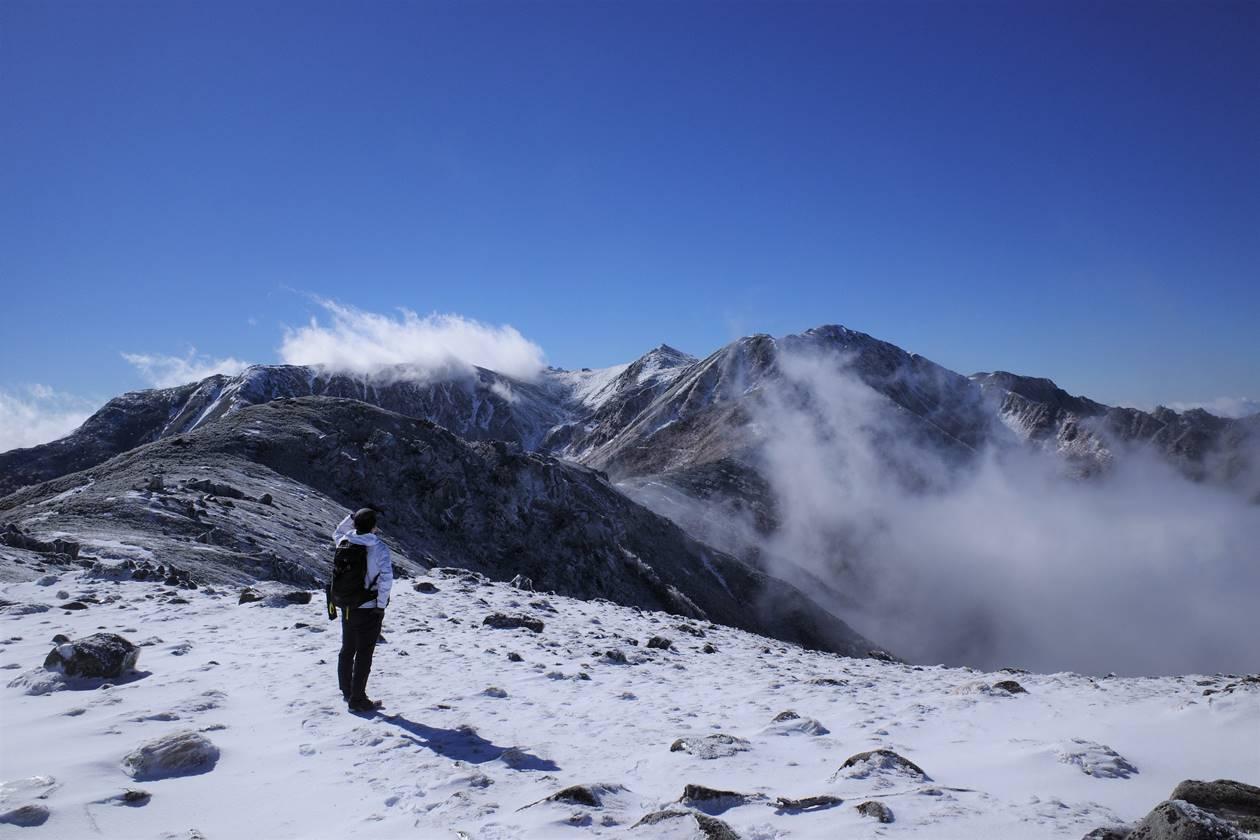 【中央アルプス】将棊頭山 霧氷と白銀の稜線!雪山登山
