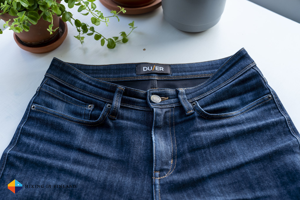 DUER All-Weather Denim Jeans front