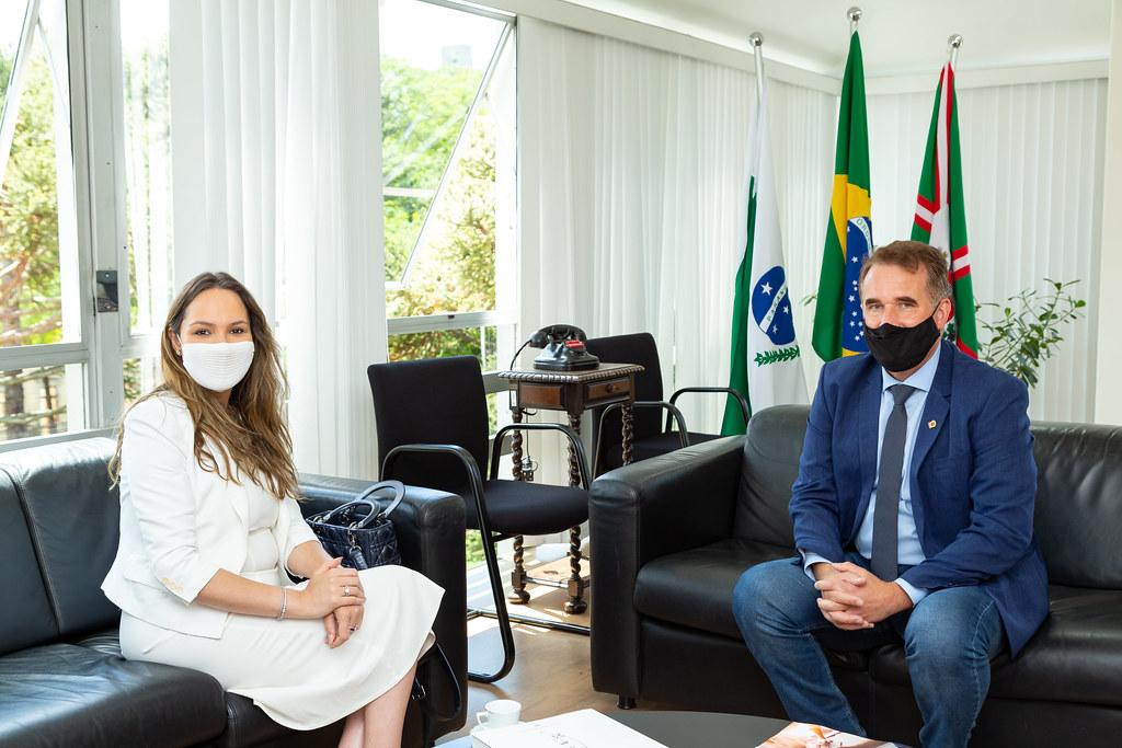 07/01/2021 - Visita à presidência: Tico Kuzma recebe deputada Maria Vitória