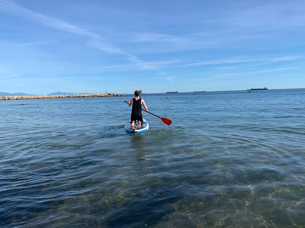 Paddle boarding at In2Adventures Gibraltar