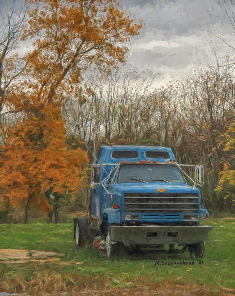 Chevy Truck Cab, Downsville Maryland, a digital painting
