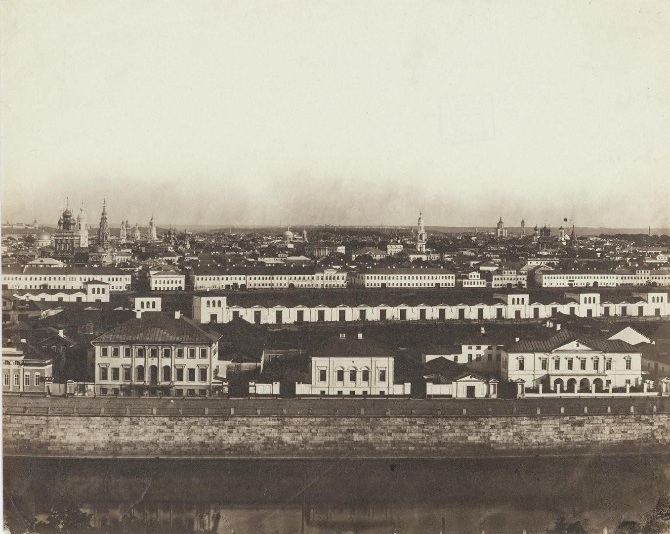 Панорама Замоскворечья из Кремля во время коронации Александра II. Снимок 3-й. 1856