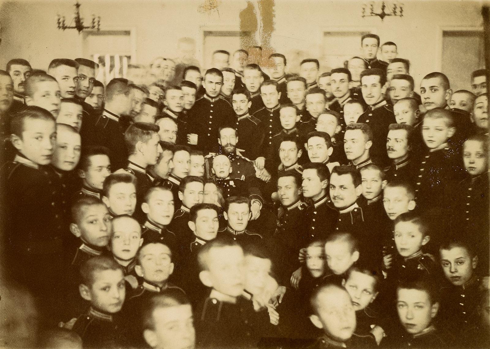 Великий князь Константин Константинович в Первом московском кадетском училище. 1901
