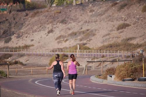 woman jogging