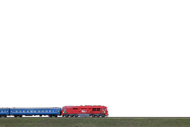 Пассажирский тепловоз ТЭП70БС-145 на перегоне Луполово/Могилёв-3.