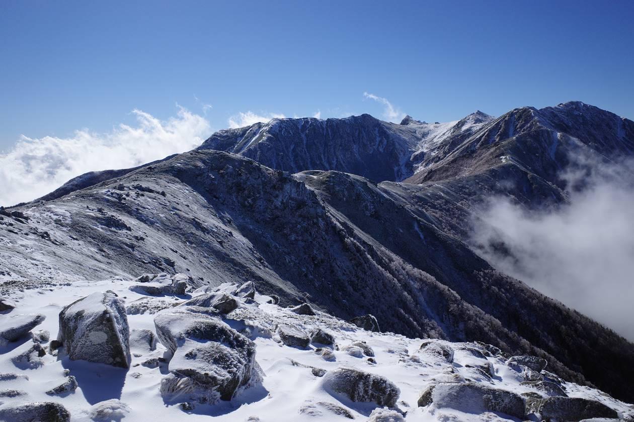 【中央アルプス】将棊頭山 初冬の雪山登山