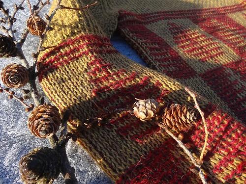 Larch-tree, tunisian crochet jumper