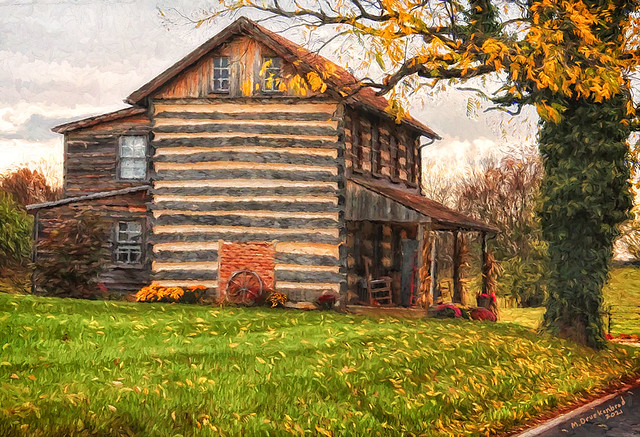 Log Home in Downsville MD, Autumn