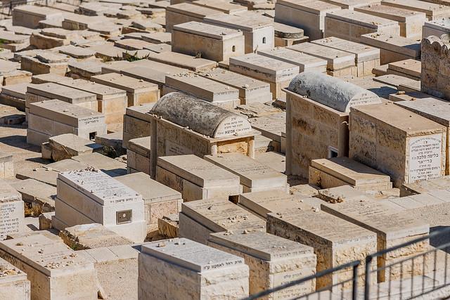 Jewish graves on Mount of Olives