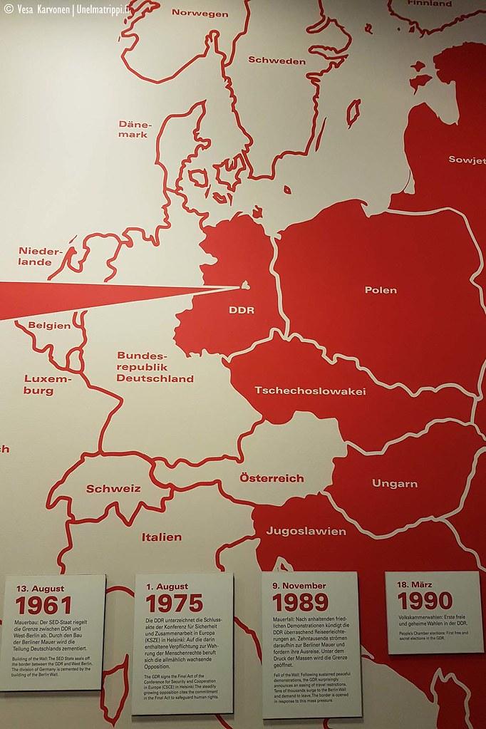 Euroopan kartta DDR:n aikaan