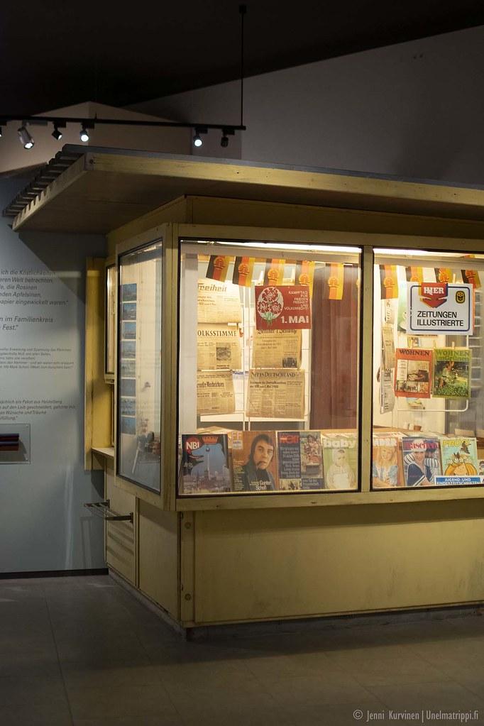 DDR:läinen lehtikioski Kulturbrauerein museossa