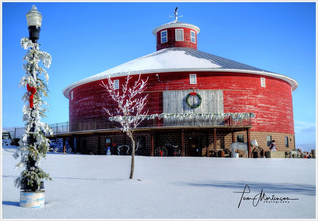 Round Red Barn