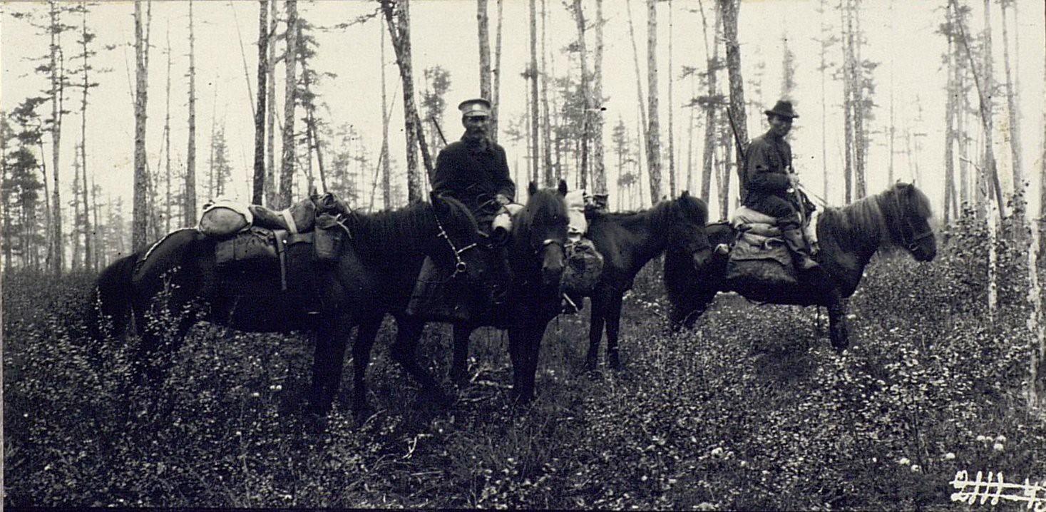 Переводчик Кычакова орочен Василий и спутник Кычакова лесной объездчик