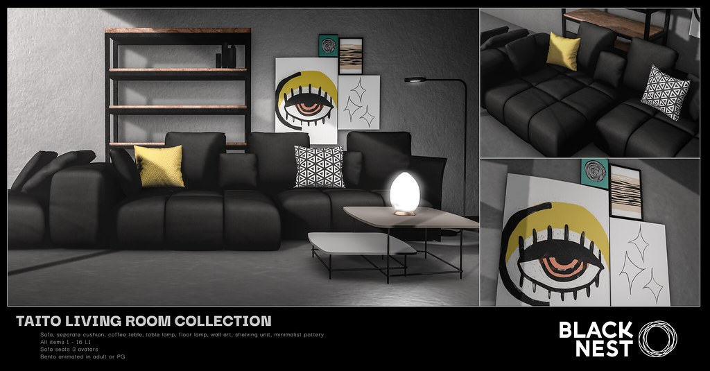 BLACK NEST | Taito Living Room Collection | Collabor88