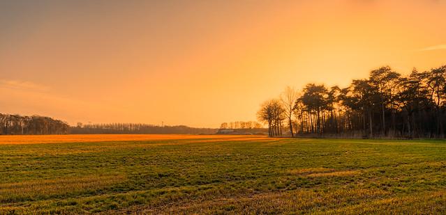 Sunset near Oirschot.