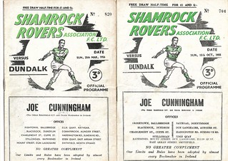 1955-56, Shamrock Rovers v Dundalk (Shield and League)