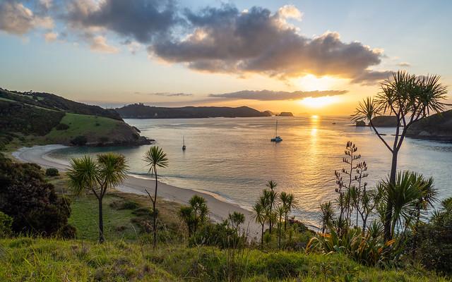 Okahu Passage sunset