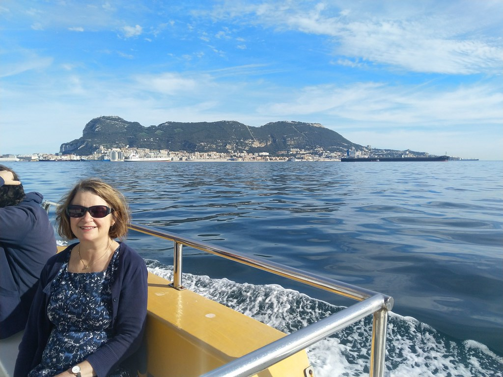 On the dolphin watching trip in Gibraltar