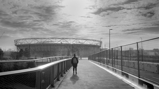 Walking towards the London Stadium