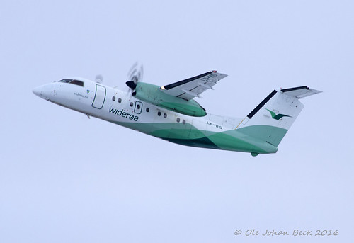 Widerøes Dash 8-100 LN-WID at ENGM/OSL 03-01-2016 | by Ole Johan Beck