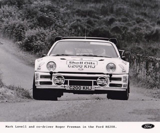 1986 Ulster Mark Lovell & Roger Freeman Press photo