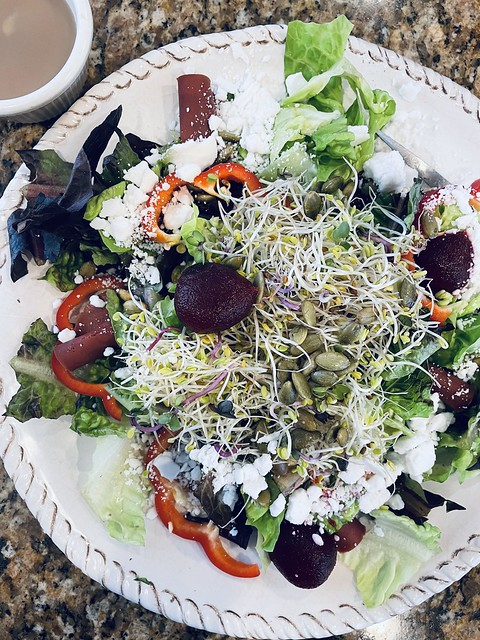 Mixed Salad with Agave Mustard Dressing