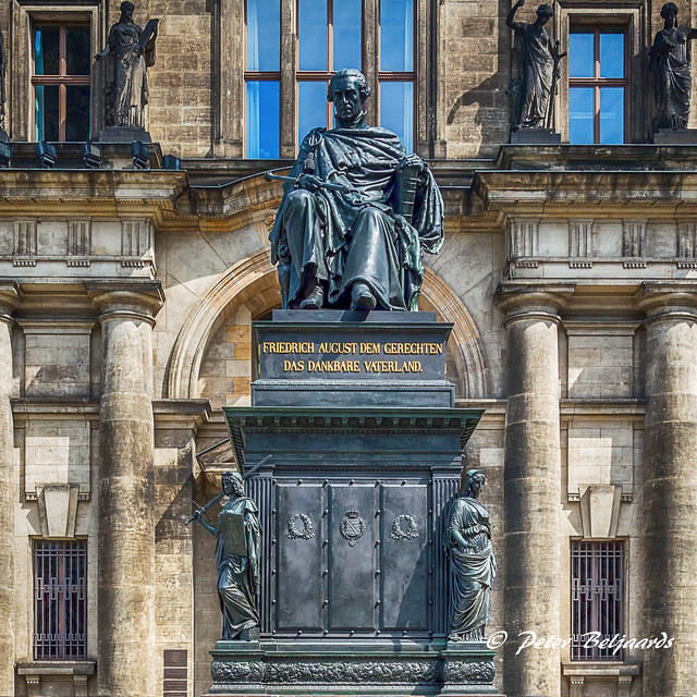 Monument in tribute to Friedrich August II, King and Elector of Saxony. Neumarkt Dresden Germany