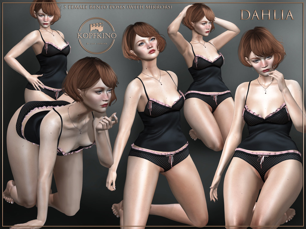 NEW! KOPFKINO – Dahlia Bento Pose Set
