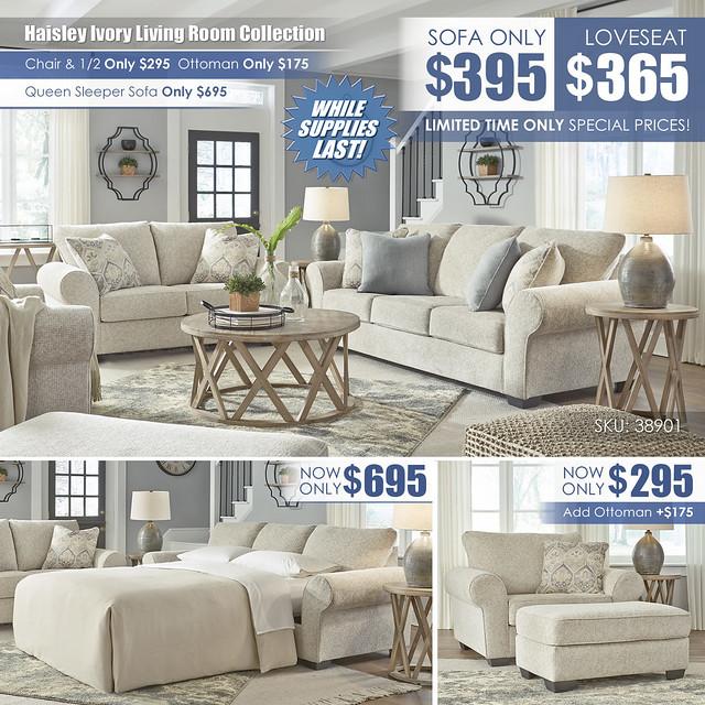 Haisley Ivory Sofa OR Loveseat Layout_38901-38-35-23-14-T921_LimitedSpecials