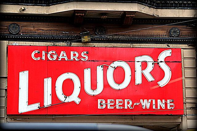 liquor store...