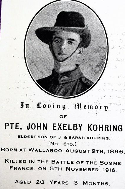 Memorial card for John Exelby Kohring  #615
