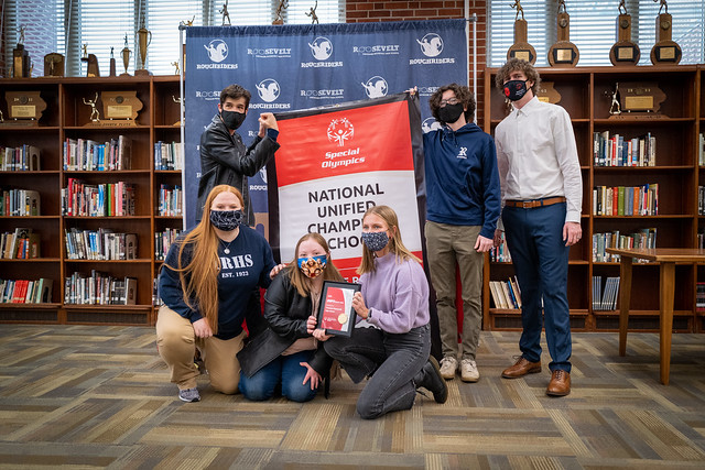 Roosevelt Presented with National Unified Champion School Banner