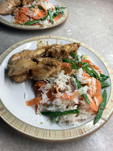Teriyaki Chicken with Pickled Ginger Salad